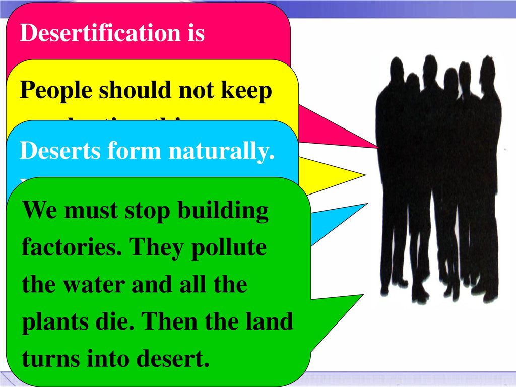 Desertification Is Caused By People Cutting Down Trees And Digging Up Bushes