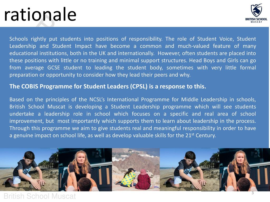 COBIS Programme for Student Leadership - ppt download
