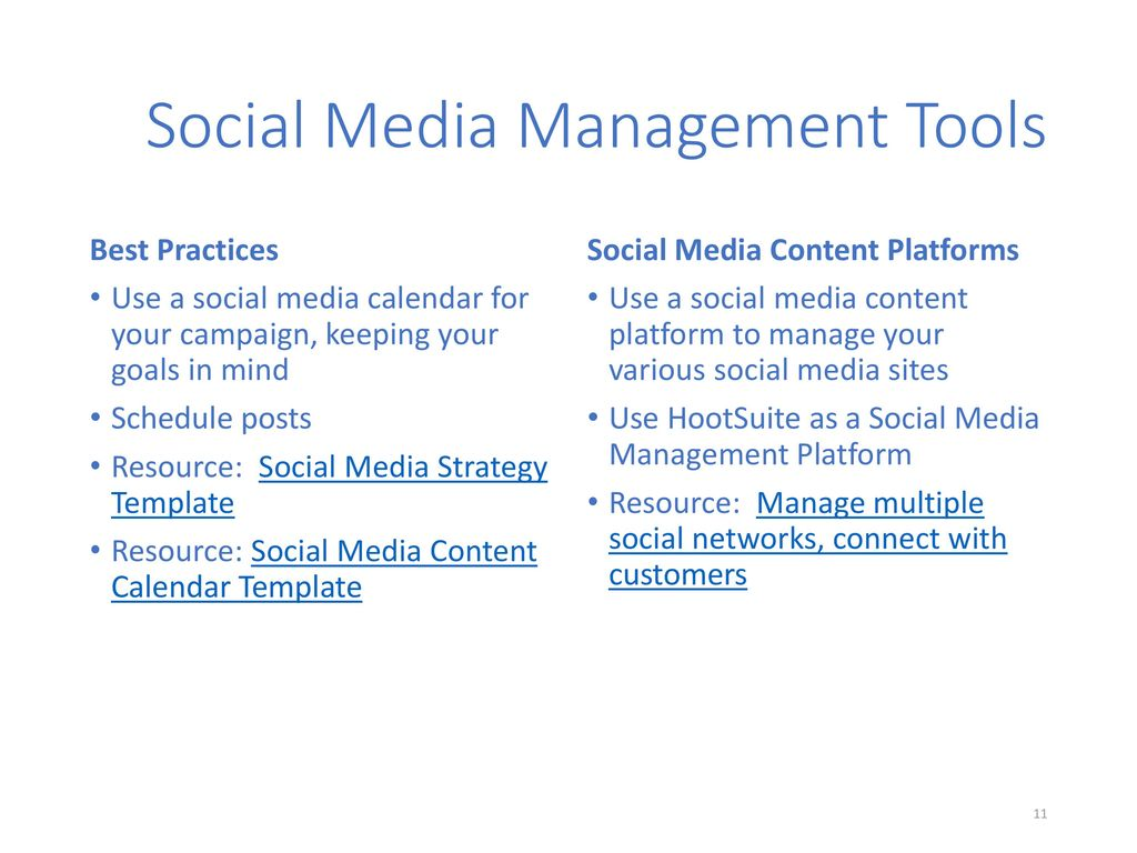 Social Media Marketing Ppt Download - Hootsuite social media strategy template
