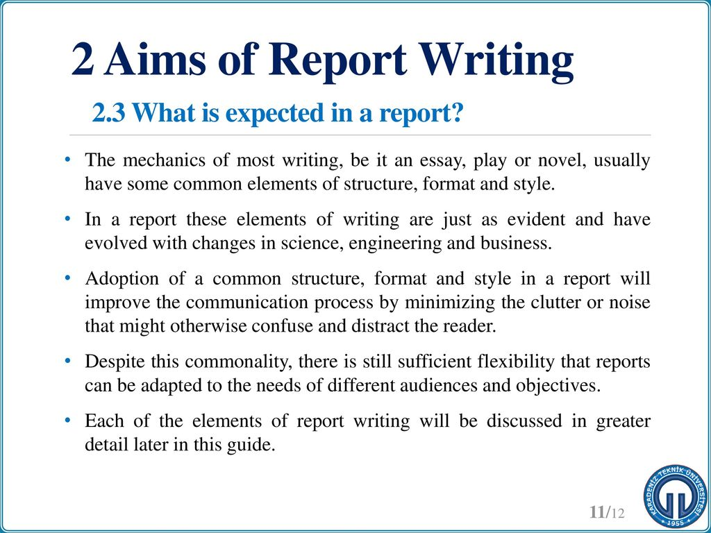 writing technical reports ppt download