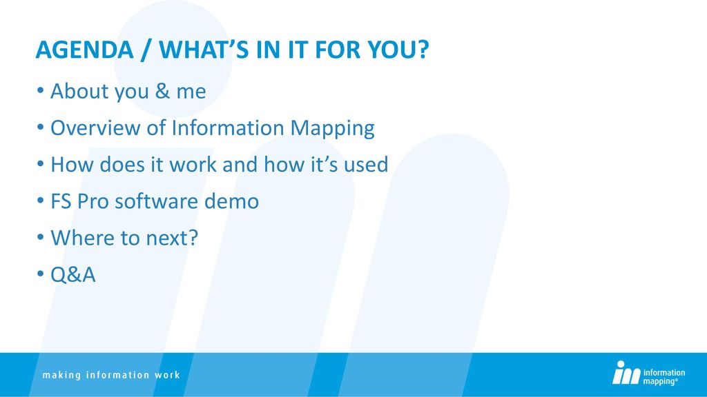Information mapping: What is it? Why use it? - ppt download on information revolution, algorithmic information theory, information about computers, information geometry, information processor, information tracking, information management, information sensitivity, information security, information broker, information overload, information graphics, information entropy, information reports, information media, information highway, information design, information technology, information communication, information tool, information architecture, information control, information systems, information theory, information animation, information processing, information system, information science, information sign, information data, information art,