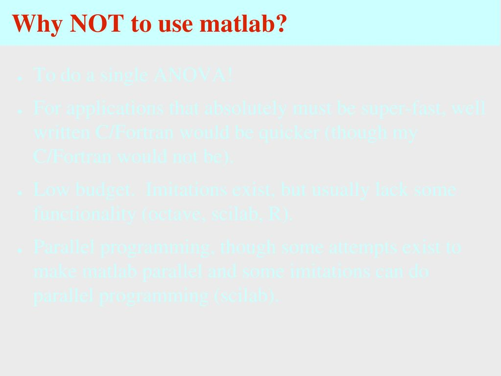 Getting started with Matlab: Outline - ppt download