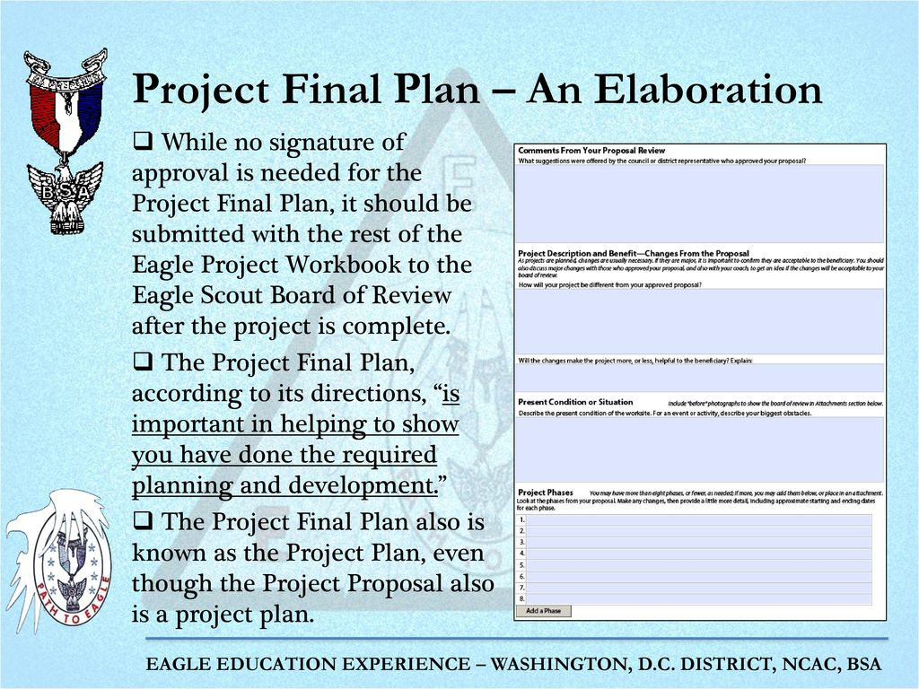 Workbooks eagle scout service project workbook : The Eagle Project Part 2: Project Proposal and Project Final Plan ...