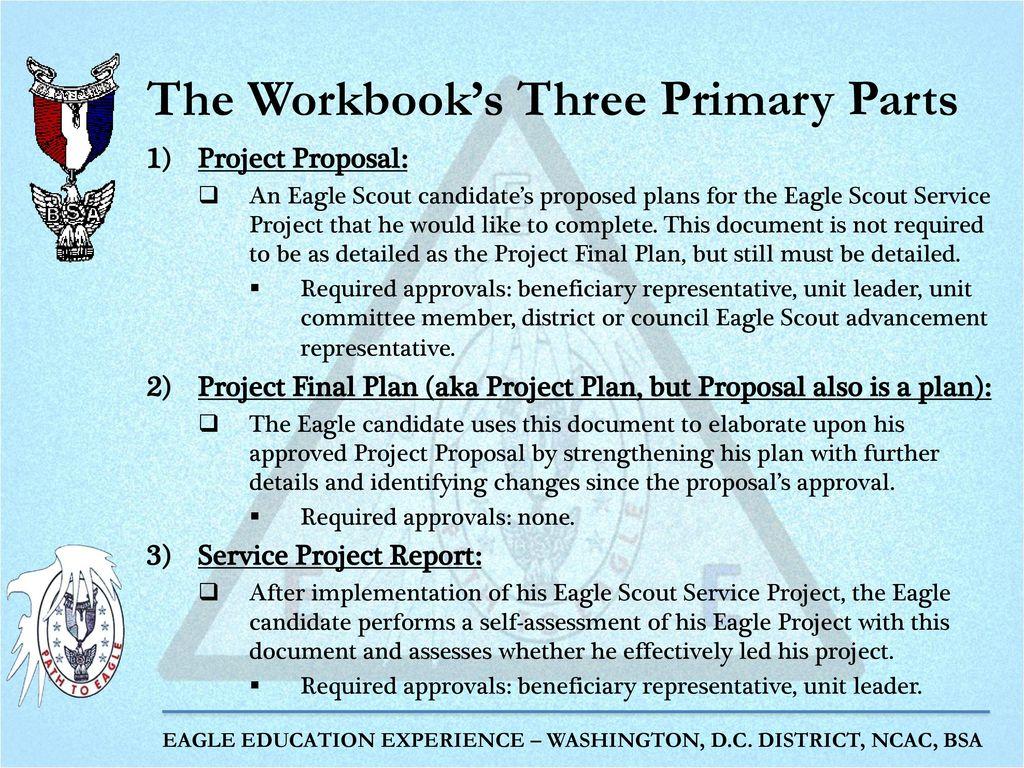 Workbooks eagle scout service project workbook : The Eagle Project Part 2: Project Proposal and Project Final Plan ...