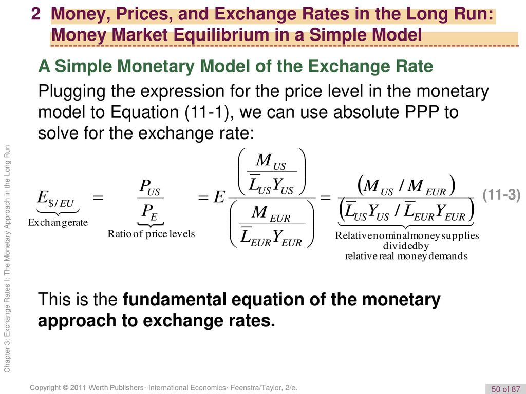 A Simple Monetary Model Of The Exchange Rate