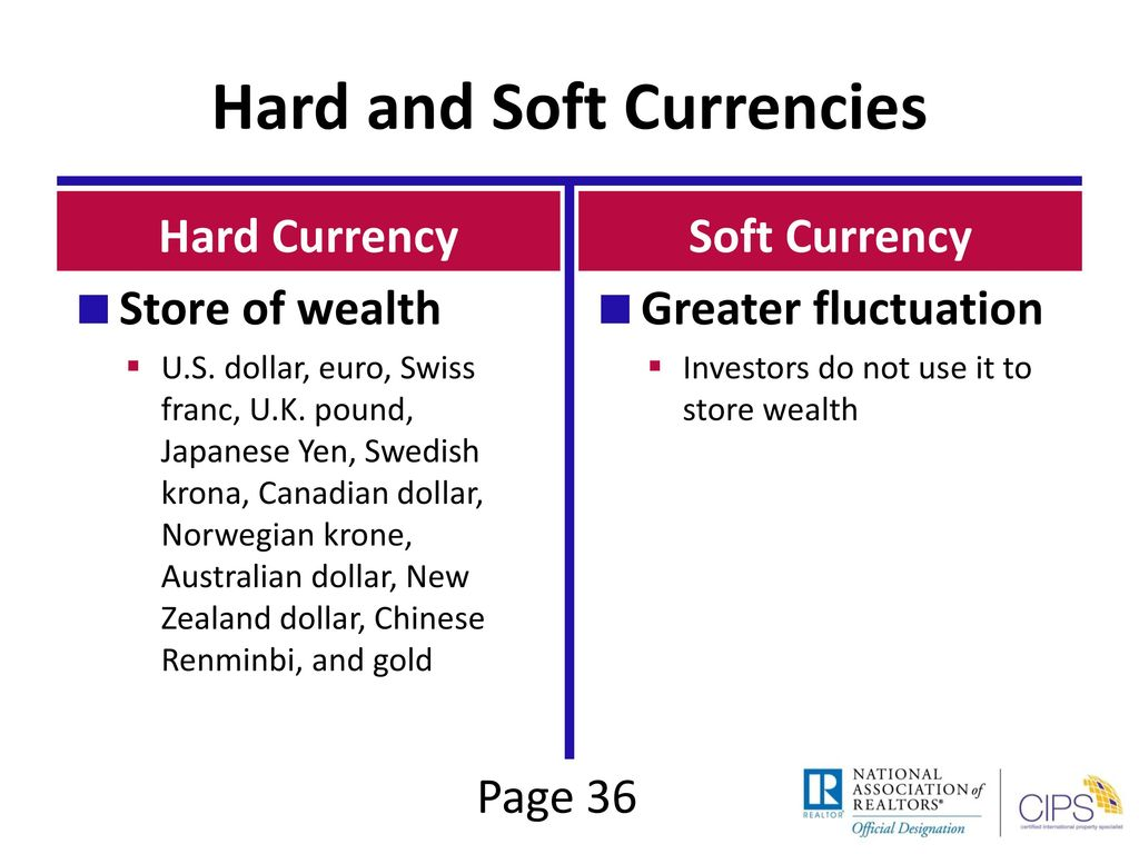 hard currency vs soft currency