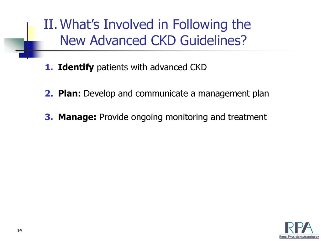 Optimizing the Care of Patients With Advanced Chronic Kidney