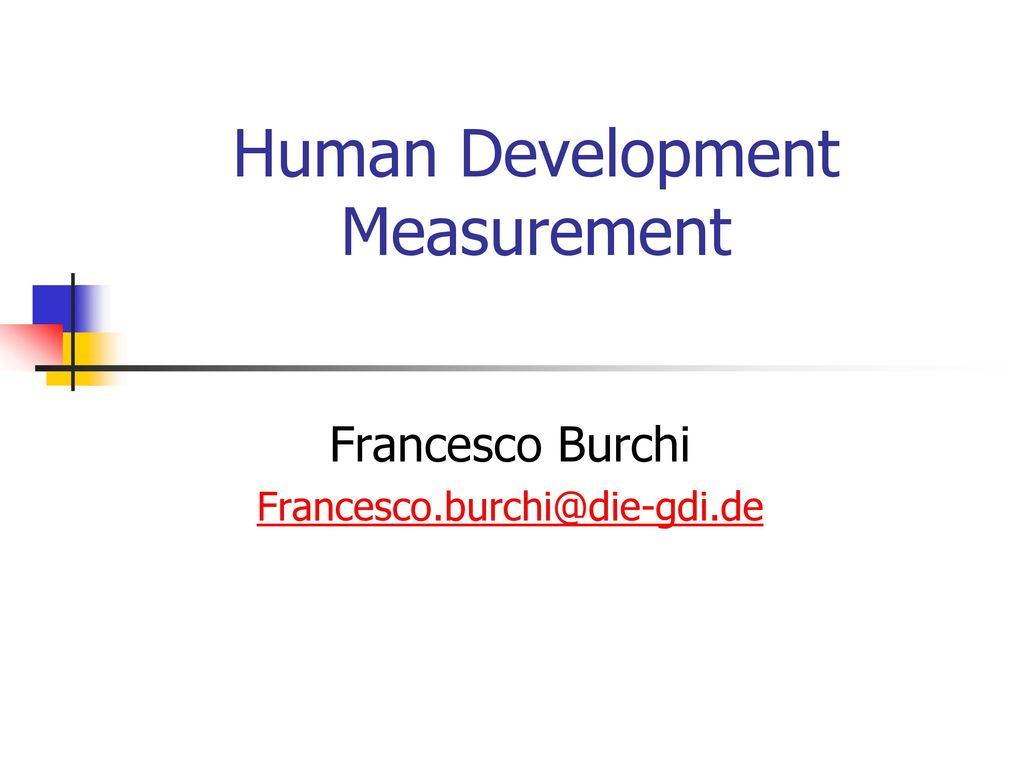 Human Development Measurement