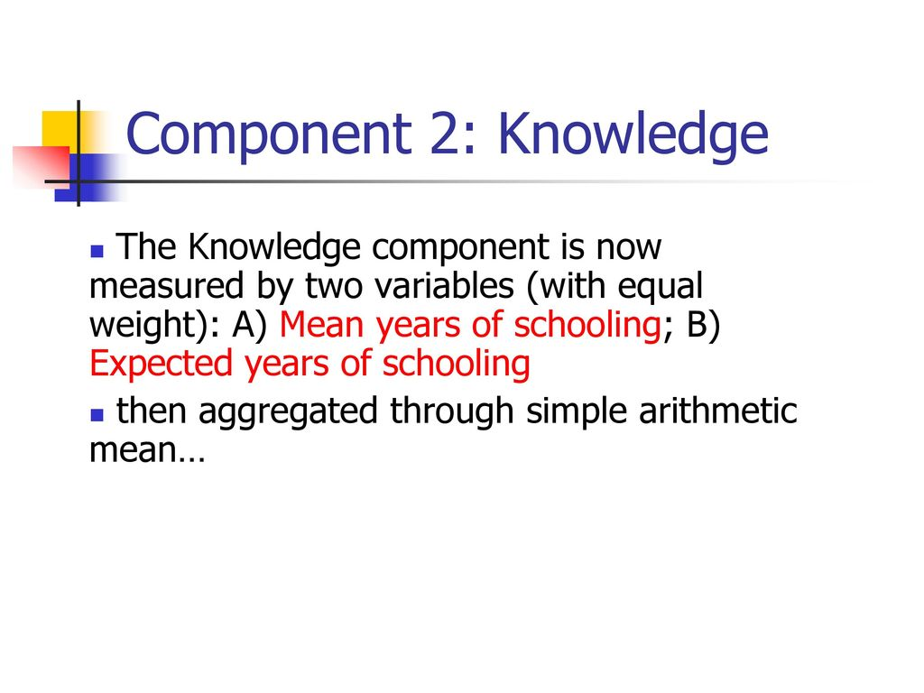 Component 2: Knowledge