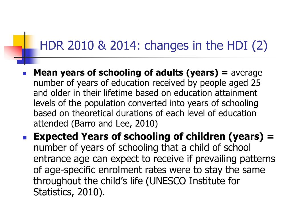 HDR 2010 & 2014: changes in the HDI (2)