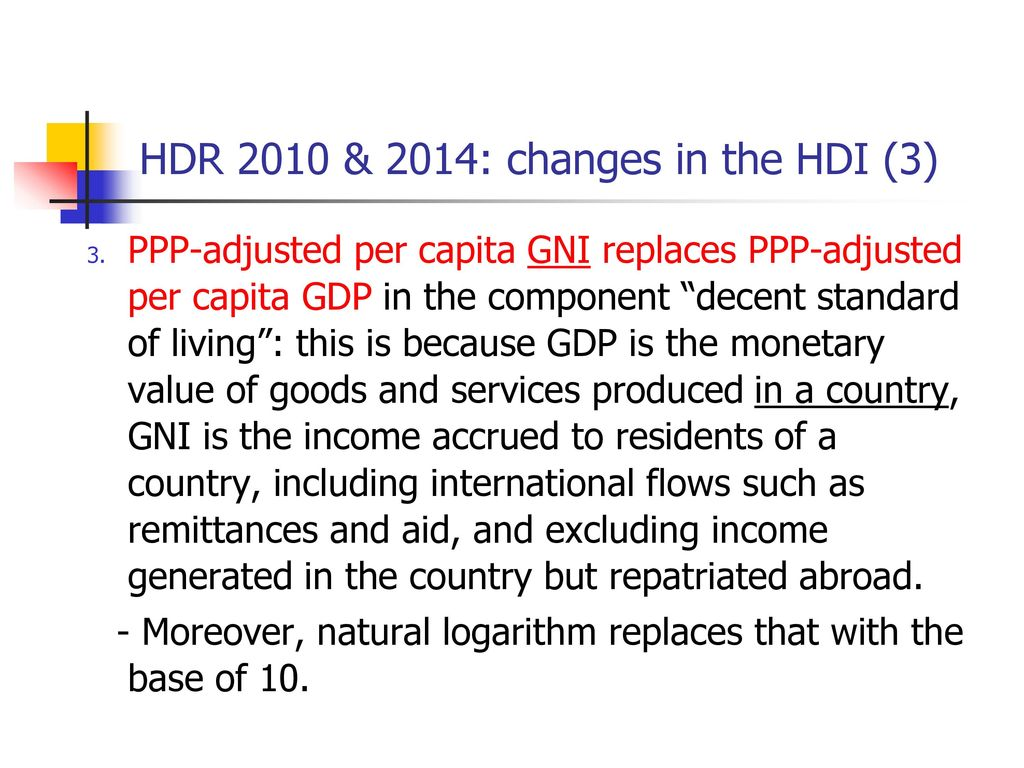 HDR 2010 & 2014: changes in the HDI (3)