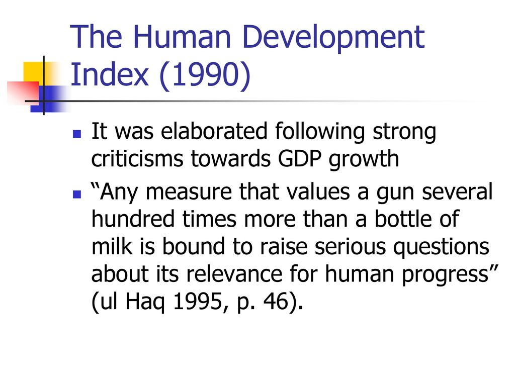 The Human Development Index (1990)