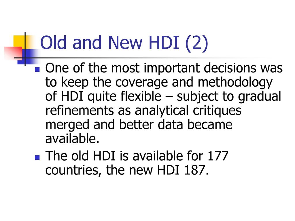 Old and New HDI (2)