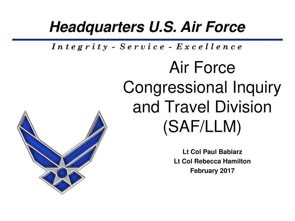 Air Force Congressional Inquiry and Travel Division (SAF/LLM