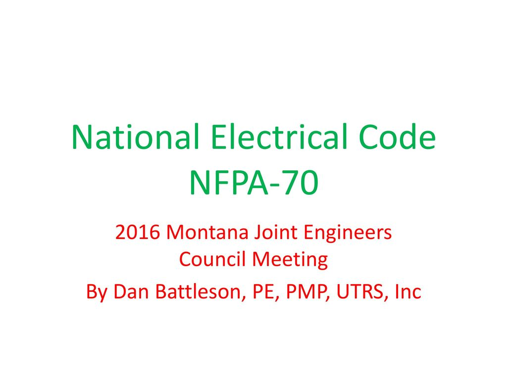 Miraculous National Electrical Code Nfpa Ppt Download Wiring Database Wedabyuccorg