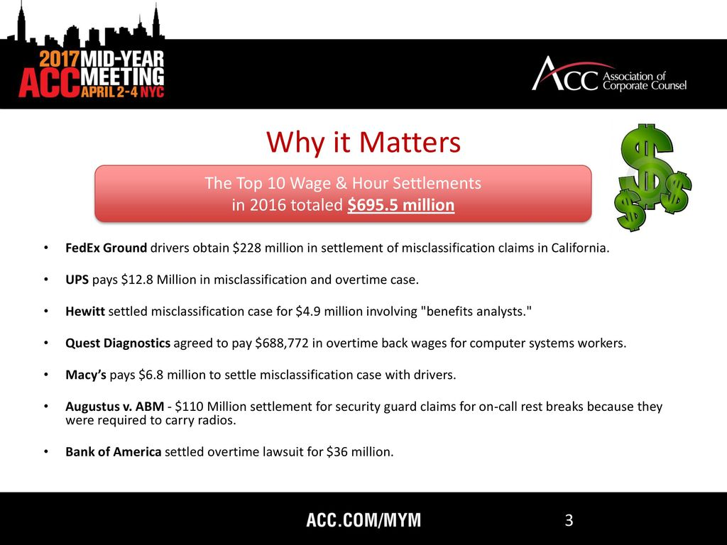 Avoiding Costly Wage and Hour Class Action Litigation - ppt