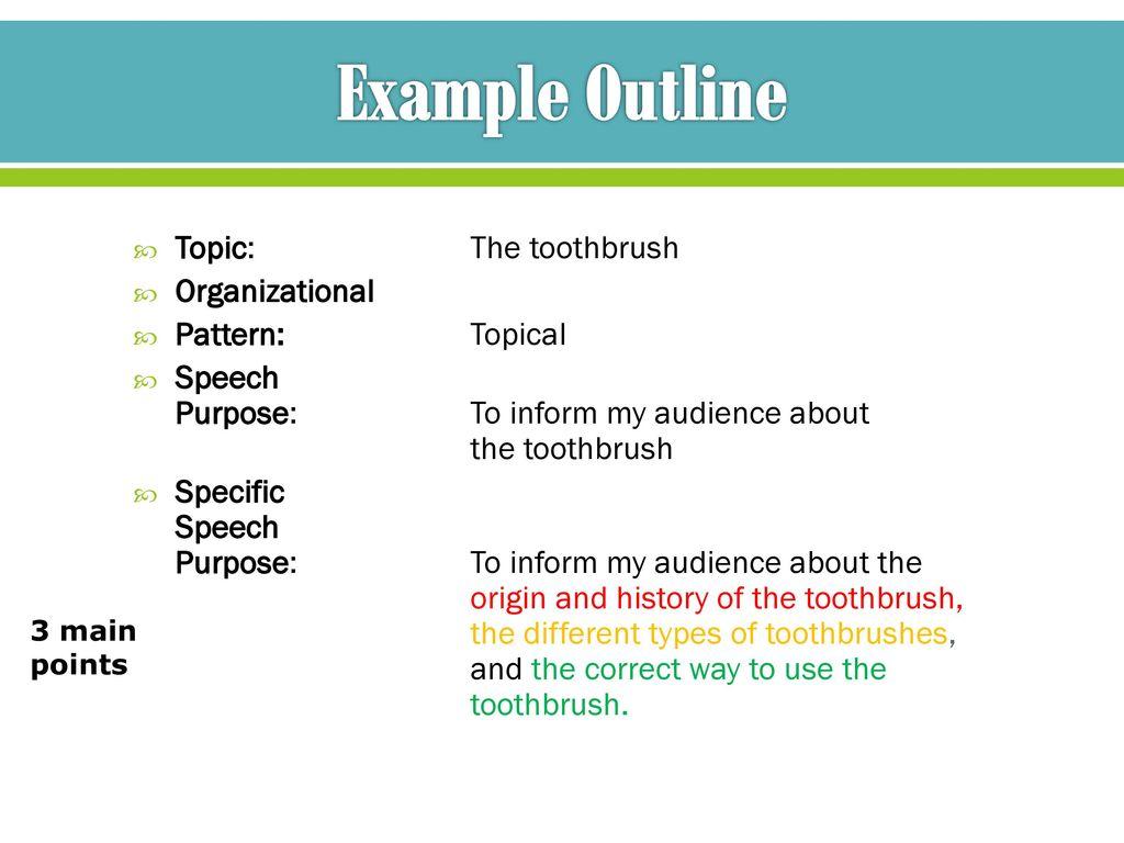 Topical Organizational Pattern Custom Ideas