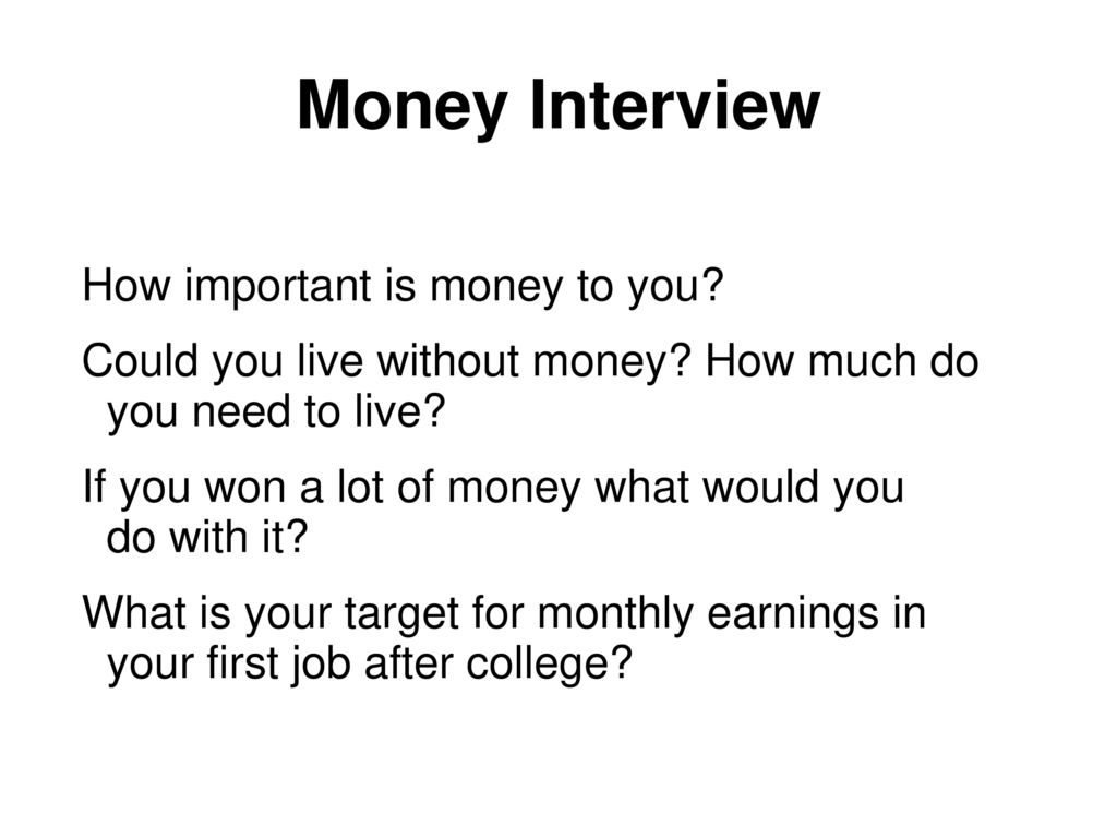 What is money for you