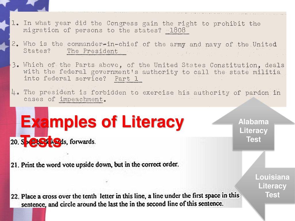 Louisiana Literacy Test Answers Kopermimarlik