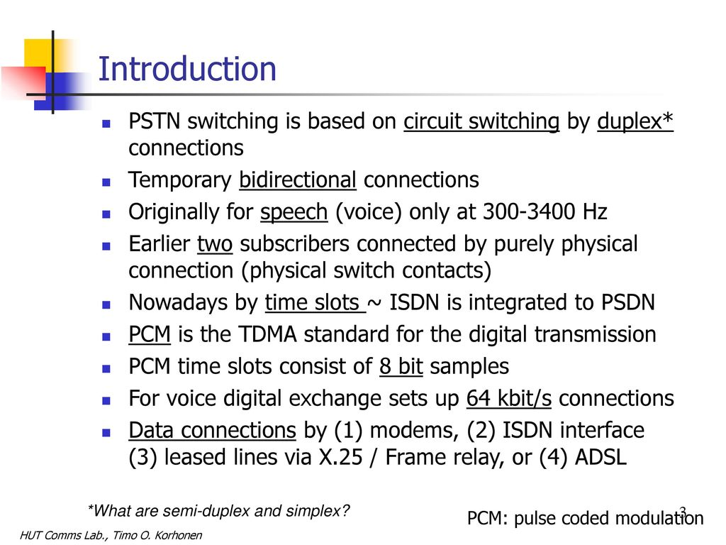 Public Switched Telephone Network (PSTN) - ppt download