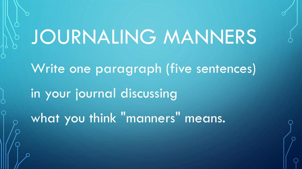 paragraph on manners