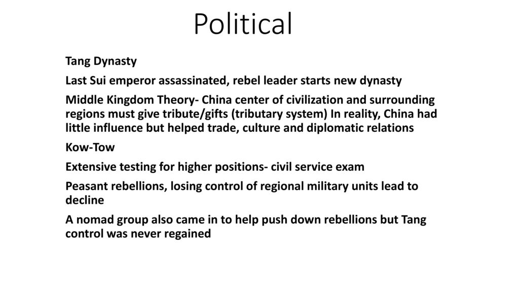 Spice Chart Ch 14 East Asia Sui Tang Song Dynasties Ppt Video Online Download