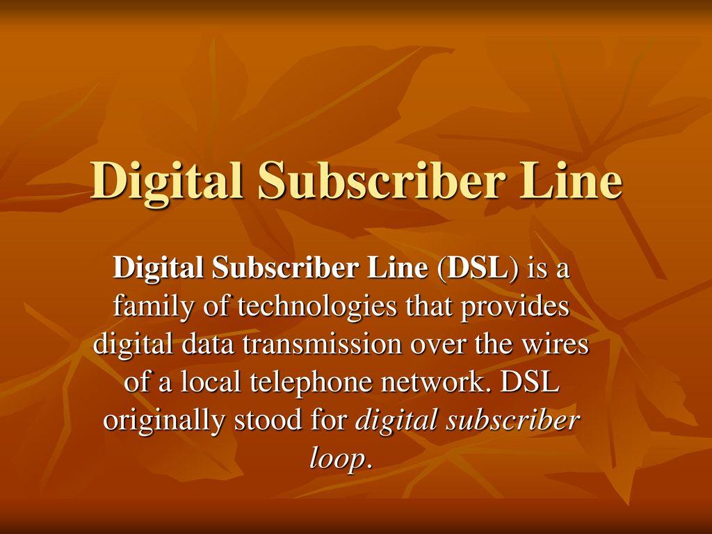 1 digital subscriber line