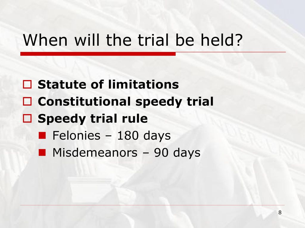 Anatomy of a Criminal Trial - ppt download