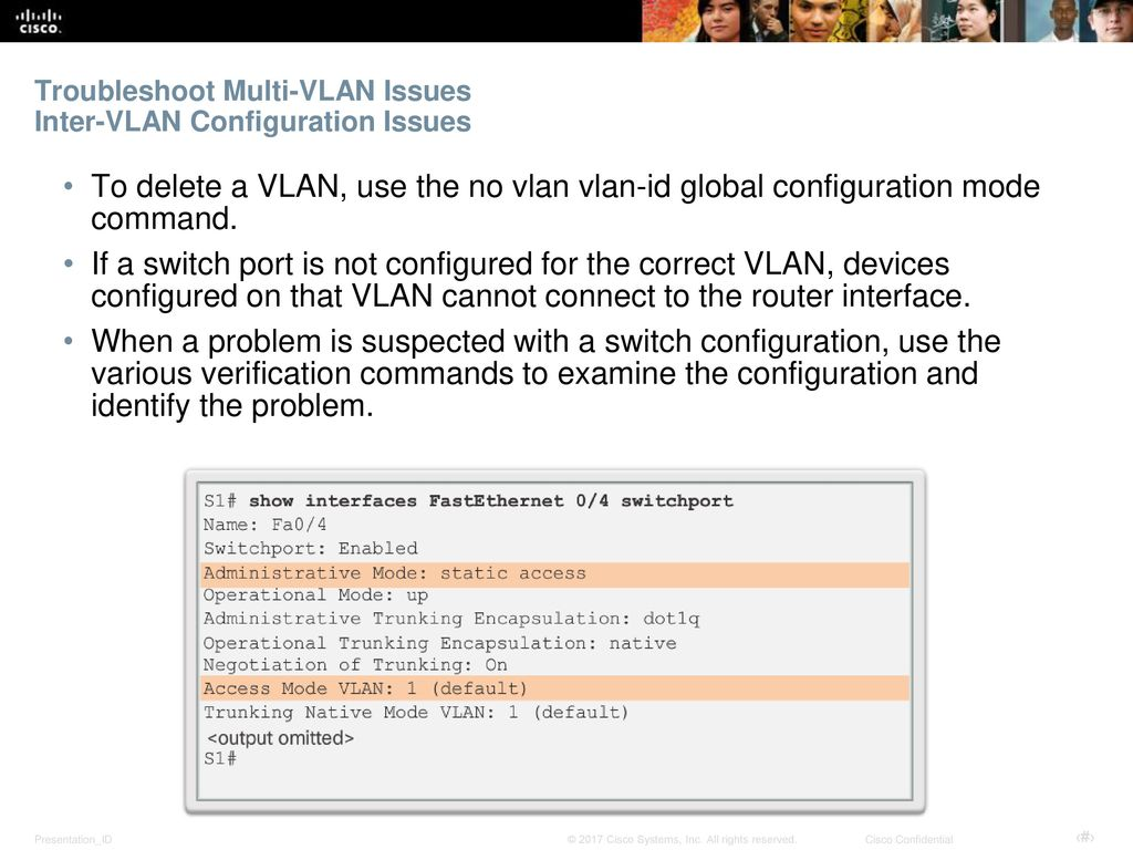 Troubleshoot Multi-VLAN Issues Inter-VLAN Configuration Issues