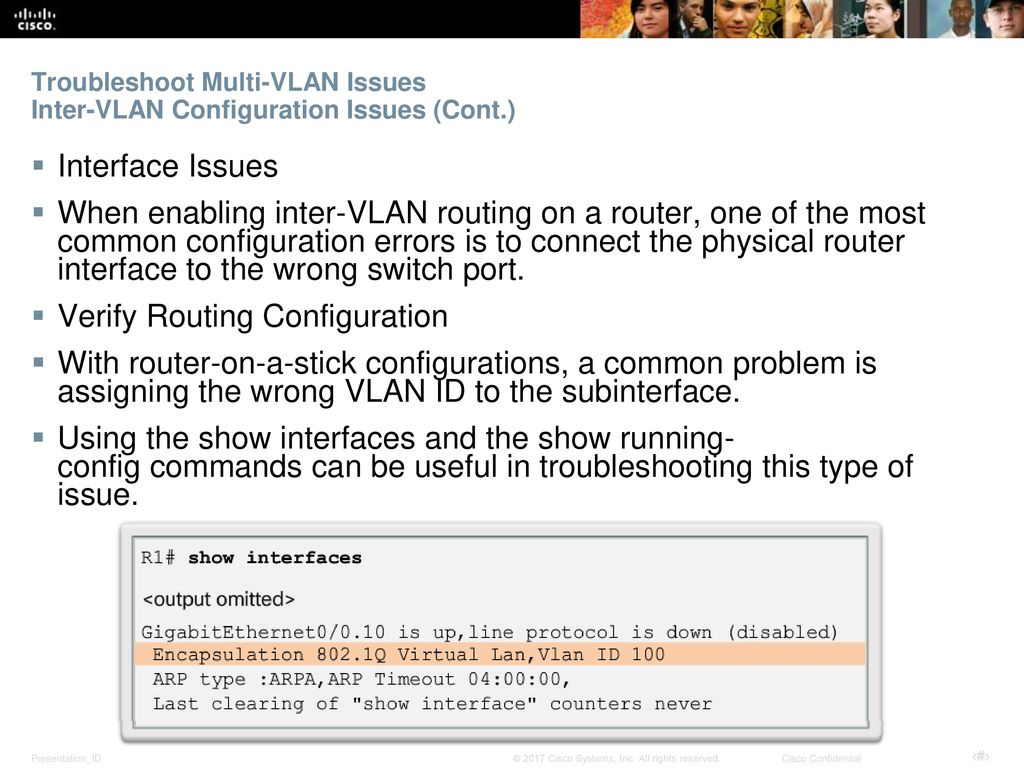 Troubleshoot Multi-VLAN Issues Inter-VLAN Configuration Issues (Cont.)