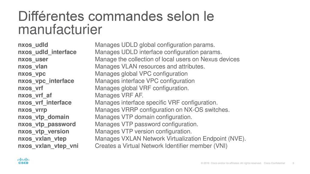 Ansible pour la gestion centralisée de réseau - ppt video