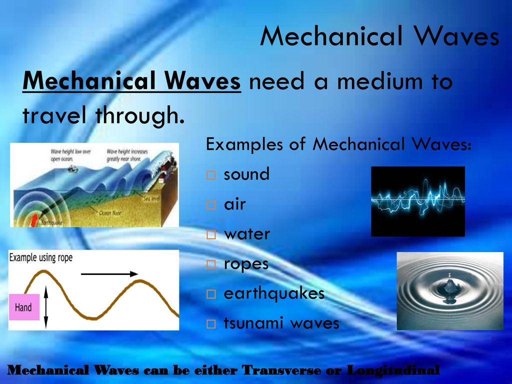 Mechanical Waves Examples Image collections - example cover letter ...