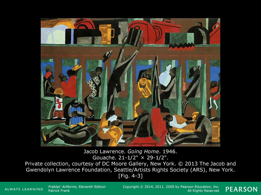 jacob lawrence going home 1946