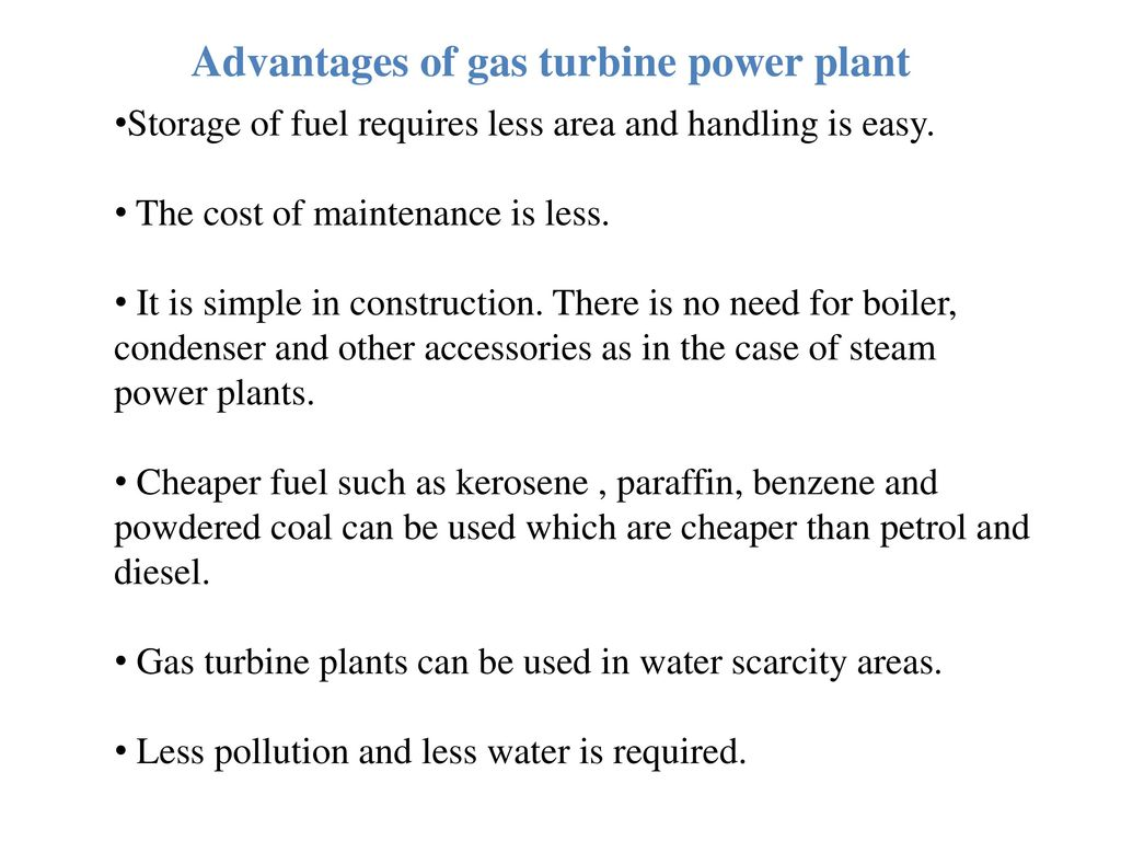 Gas Turbine Power Plant Ppt Video Online Download Diesel Block Diagram Advantages Of