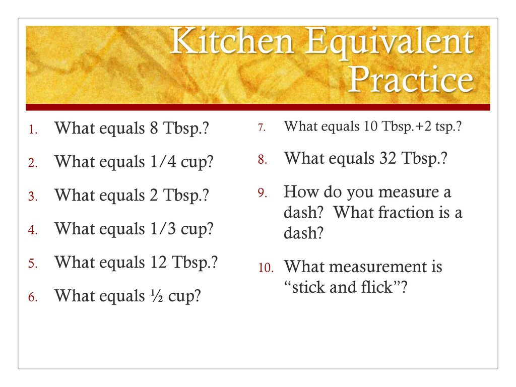 Standard Equipment, Equivalents, and Measuring Math - ppt download