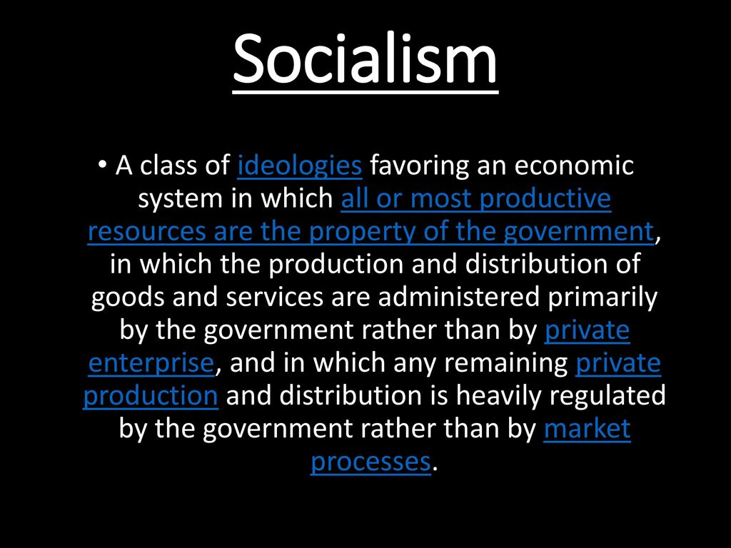 key features of socialism