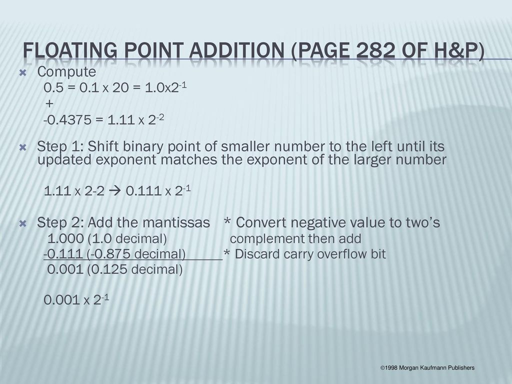 Floating Point Representations - ppt video online download