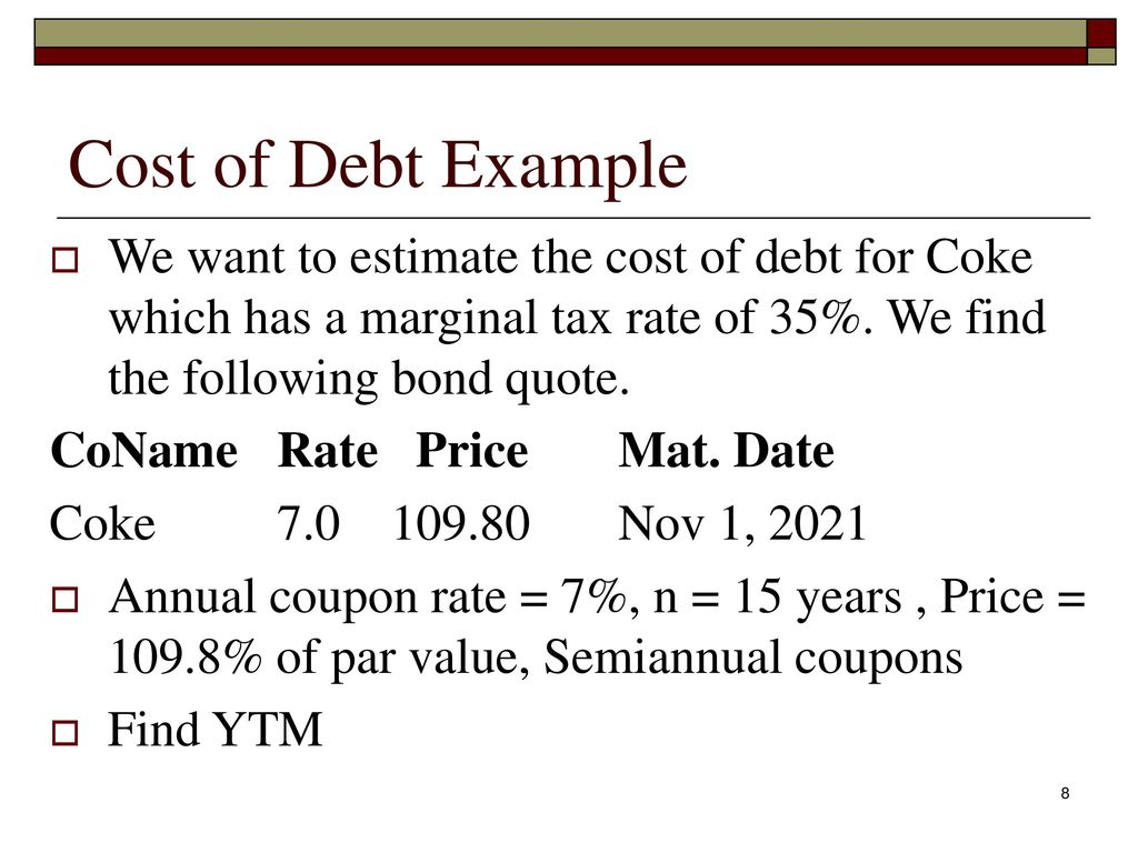 cost of debt estimation how do you determine the appropriate cost of debt for a company does it make Whereas cost of capital is the rate the company must pay now to raise more funds, cost of debt is the cost the company is paying to carry all debt it has acquired cost of debt becomes a concern for stockholders, bondholders, and potential investors for high-leverage companies (ie, companies where debt financing is large relative to.