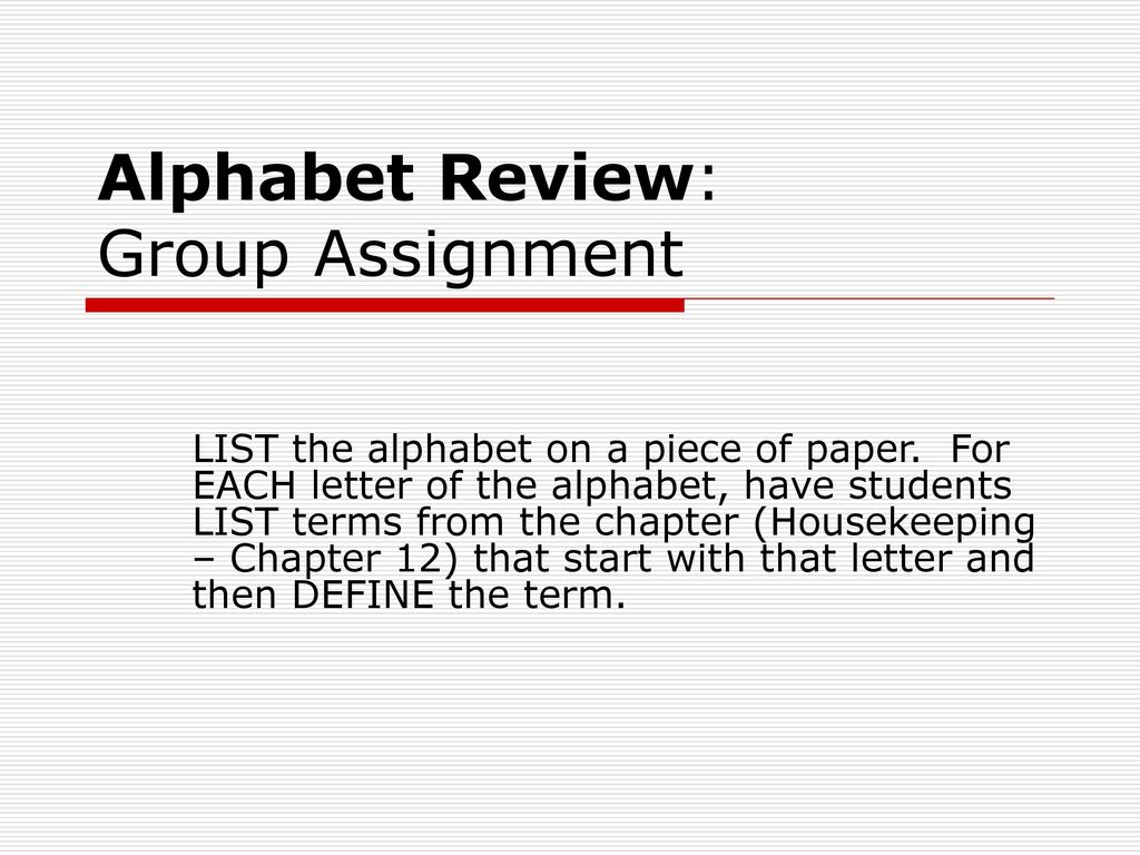 Housekeeping Chapter 12 Notes  - ppt video online download