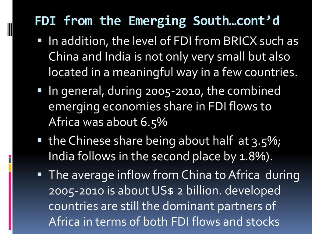 Foreign Direct Investment (FDI) in the Ethiopian/African