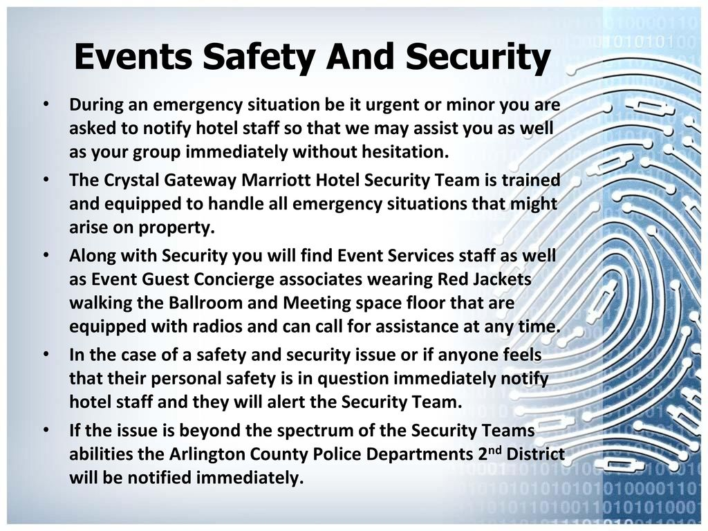 Event Safety and Security - ppt video online download