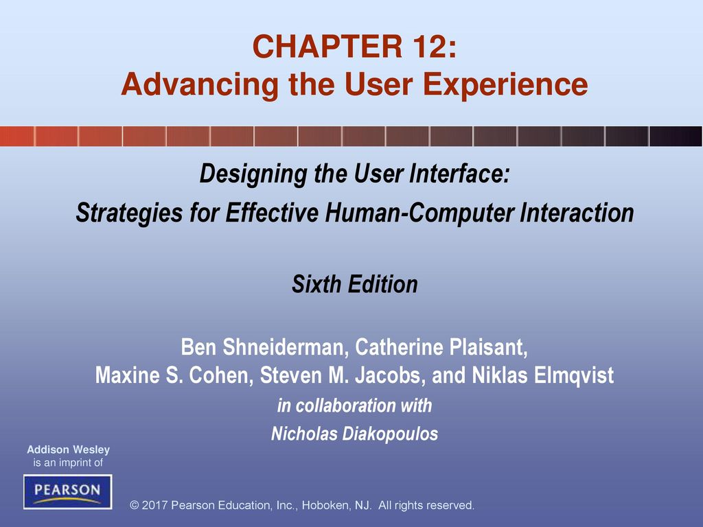Chapter 12 Advancing The User Experience Ppt Download