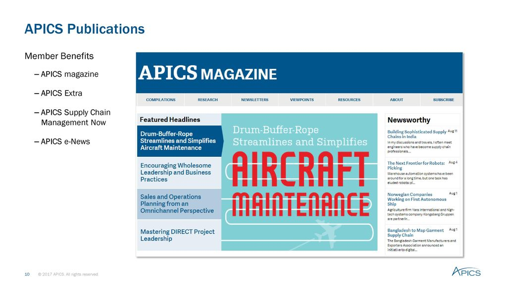 Apics certified in production and inventory management cpim ppt 10 apics publications fandeluxe Choice Image