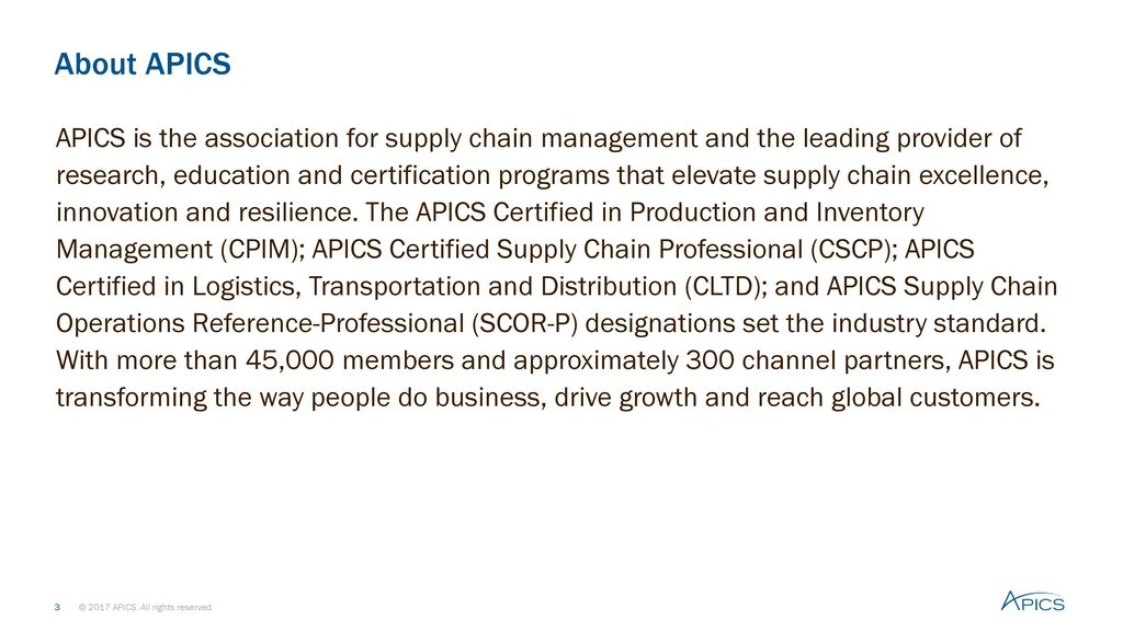 Apics certified in production and inventory management cpim ppt about apics fandeluxe Choice Image