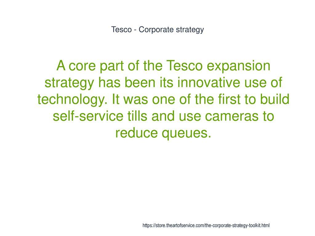 tesco corporate strategy