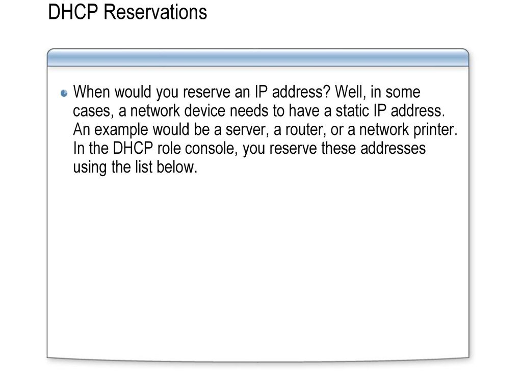 Dynamic Host Configuration Protocol - ppt video online download