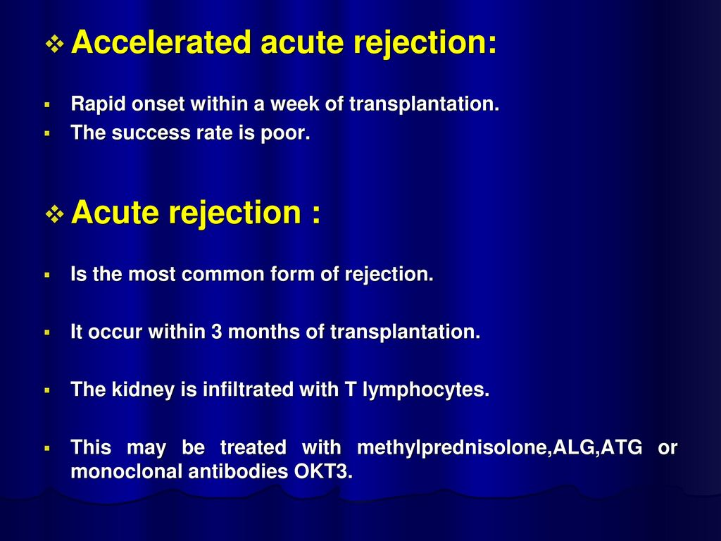 Accelerated acute rejection: