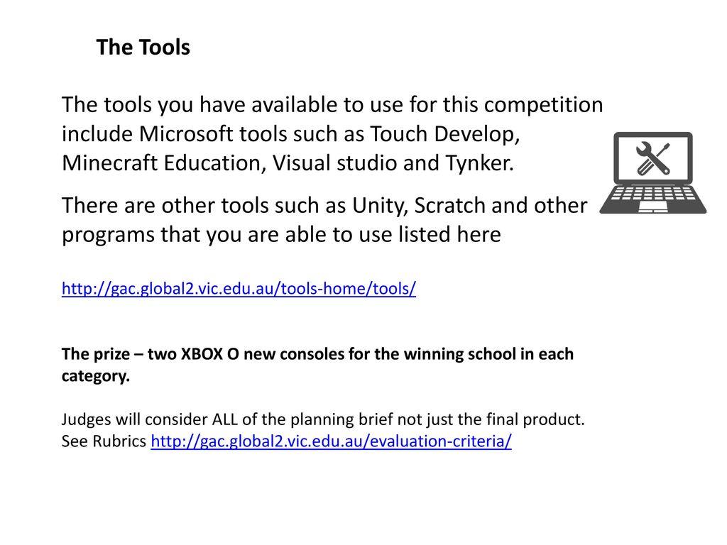 The Victorian Games Apps Challenge Design Brief PowerPoint Ppt - Minecraft hauser app