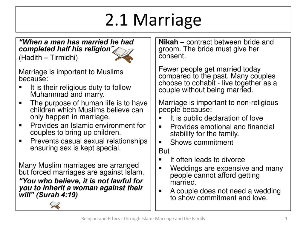 Religion And Ethics Through Marriage The Family