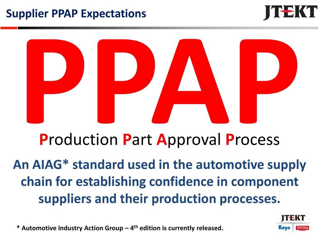 1 Production Part Approval Process